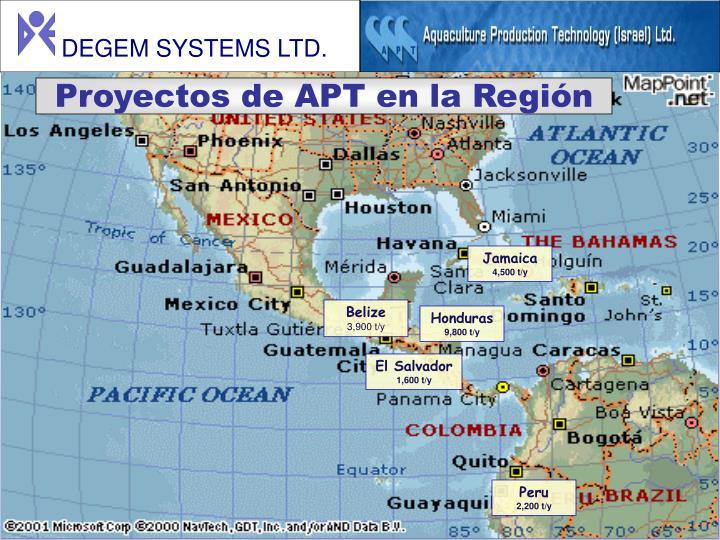Proyectos de APT en la Región