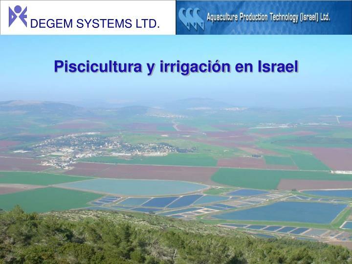 Piscicultura y irrigación