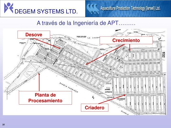 A través de la Ingeniería de APT………