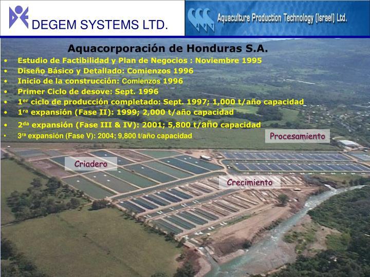 Aquacorporación de Honduras S.A.