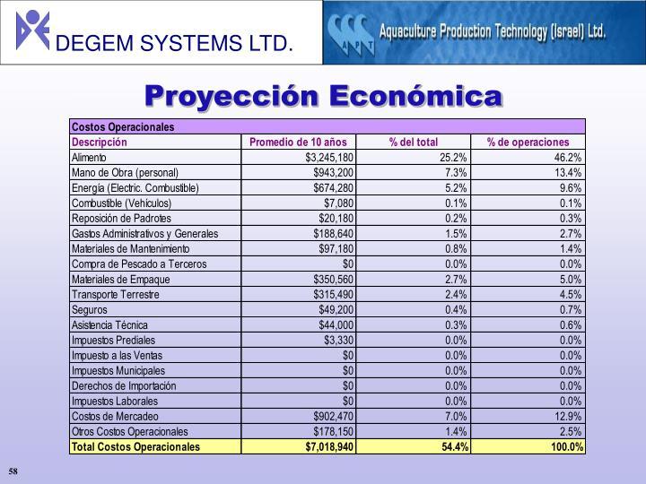 Proyección Económica