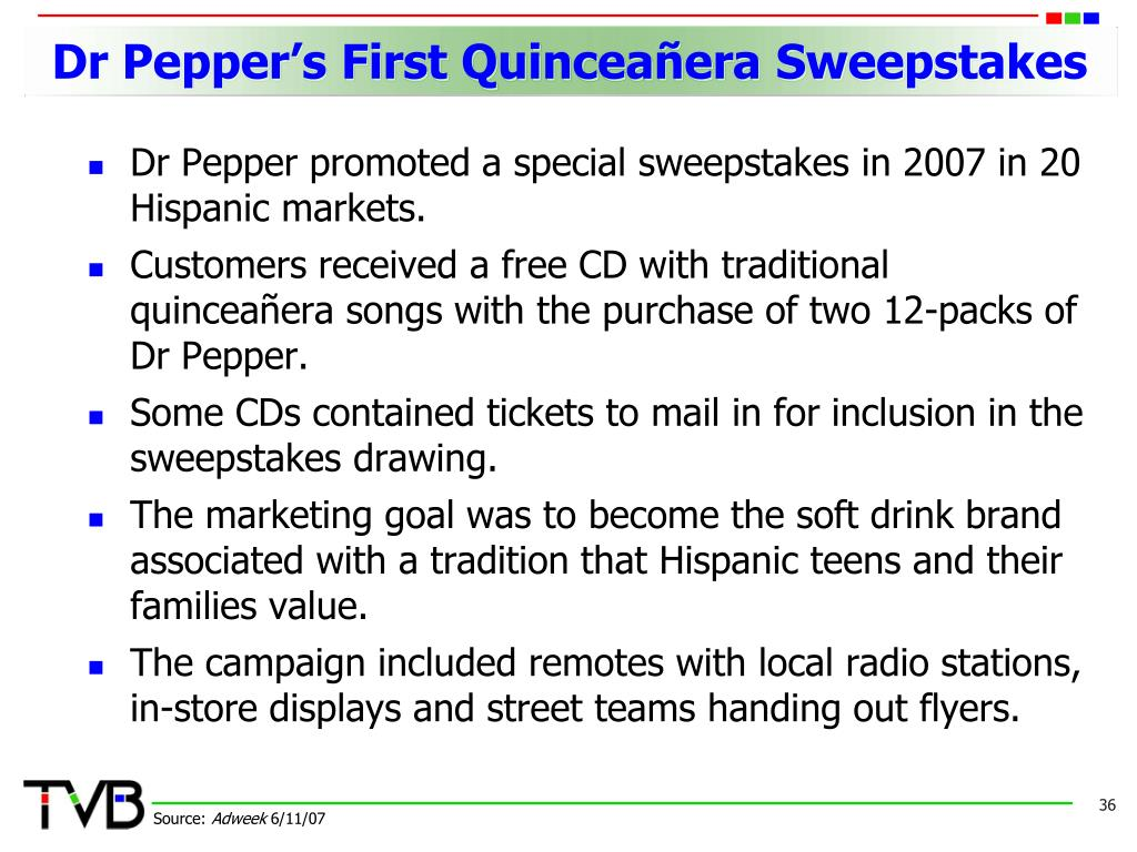 Dr Pepper's First Quinceañera Sweepstakes
