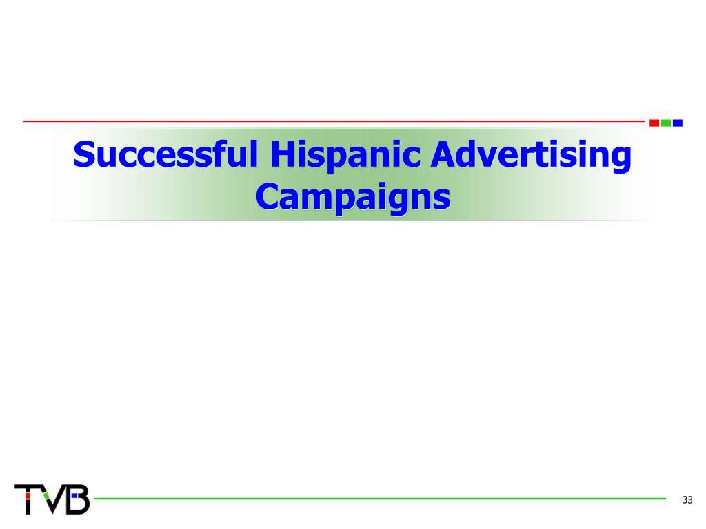Successful Hispanic Advertising Campaigns