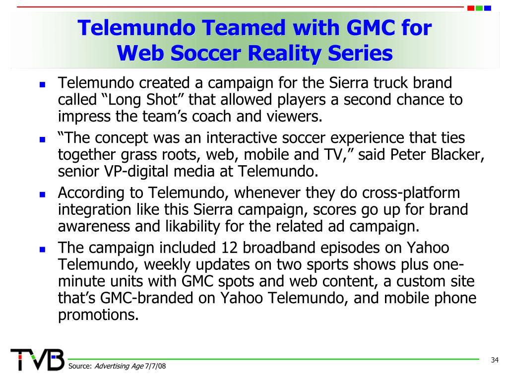 Telemundo Teamed with GMC for