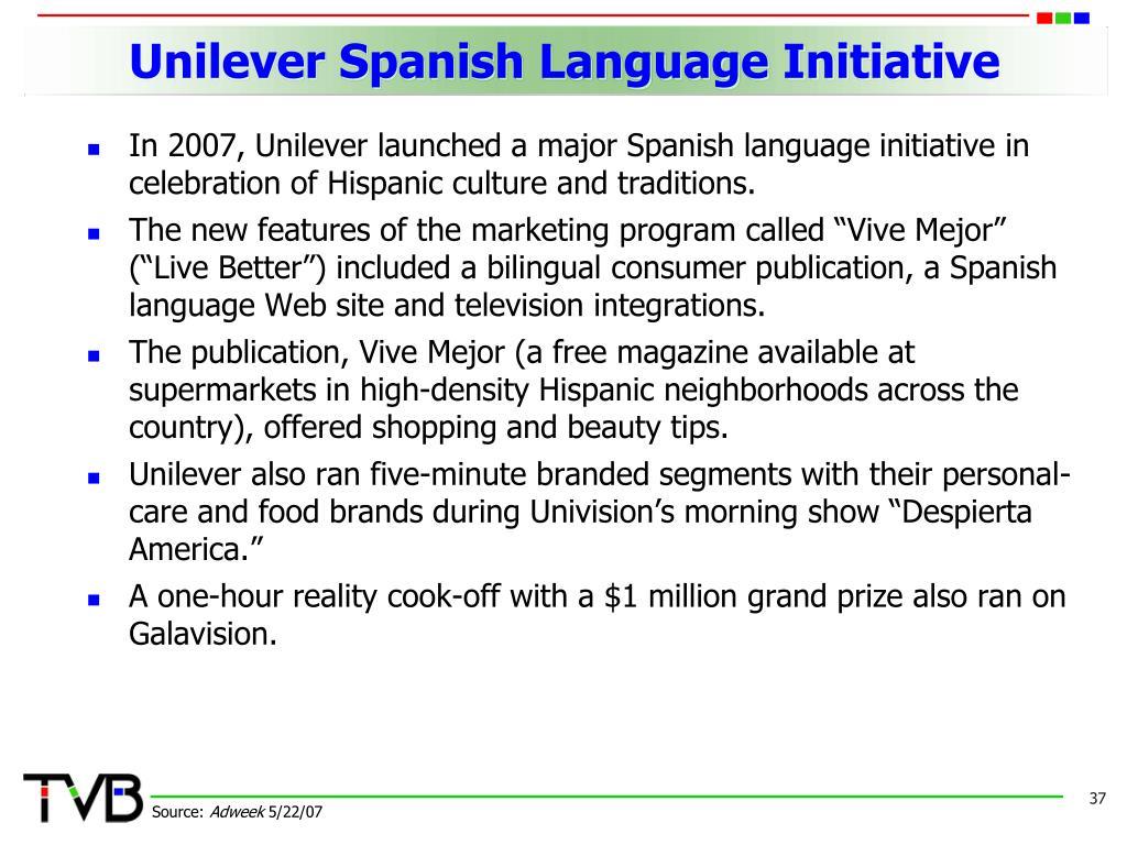 Unilever Spanish Language Initiative