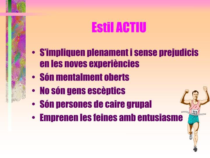 Estil ACTIU