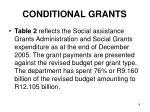 conditional grants1