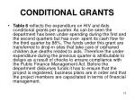 conditional grants10