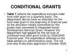 conditional grants13