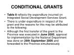 conditional grants15