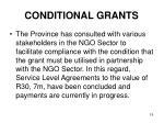 conditional grants16