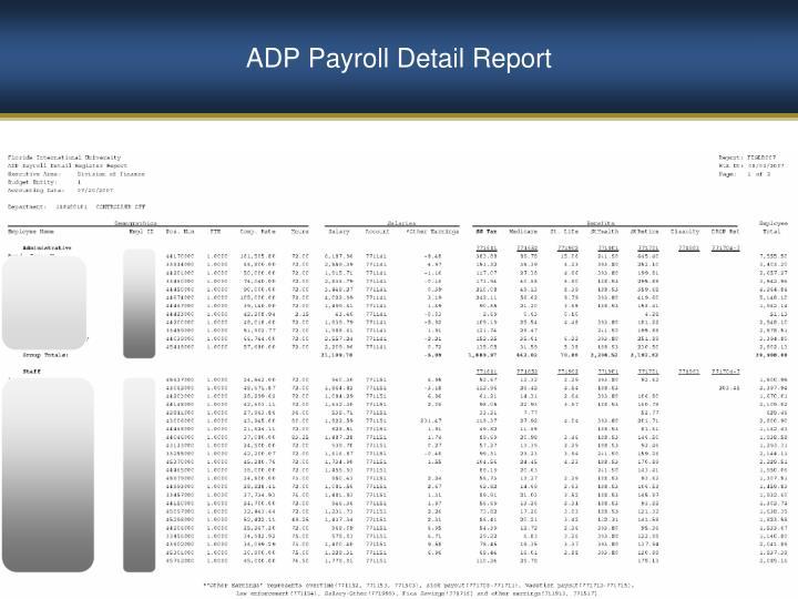 ADP Payroll Detail Report