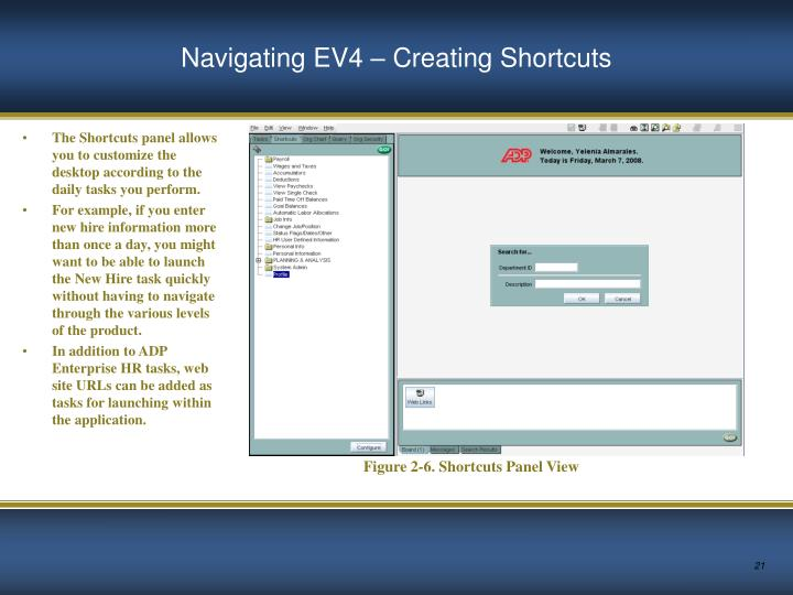Navigating EV4 – Creating Shortcuts