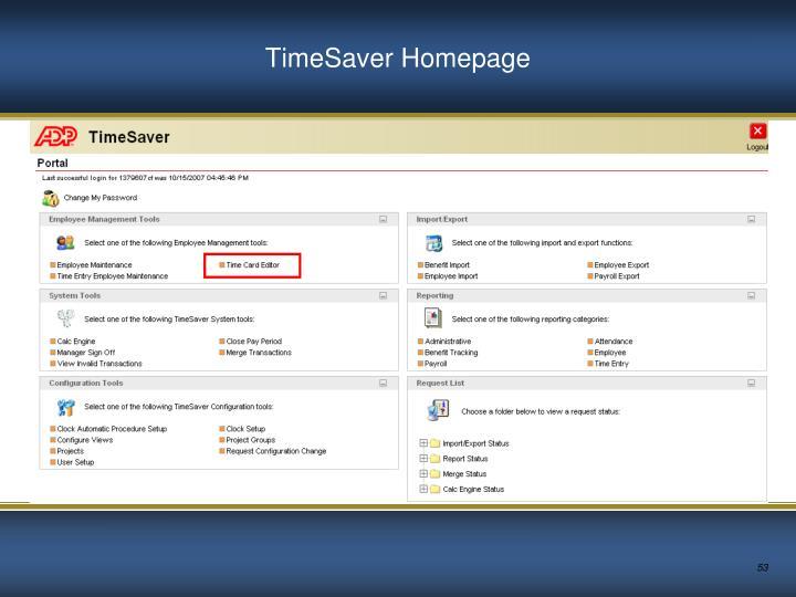TimeSaver Homepage