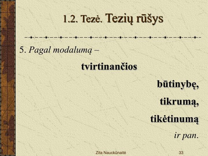 1.2. Tezė.