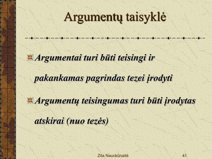 Argumentų