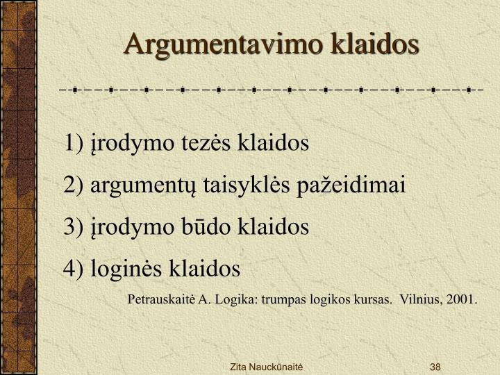 Argumentavimo klaid