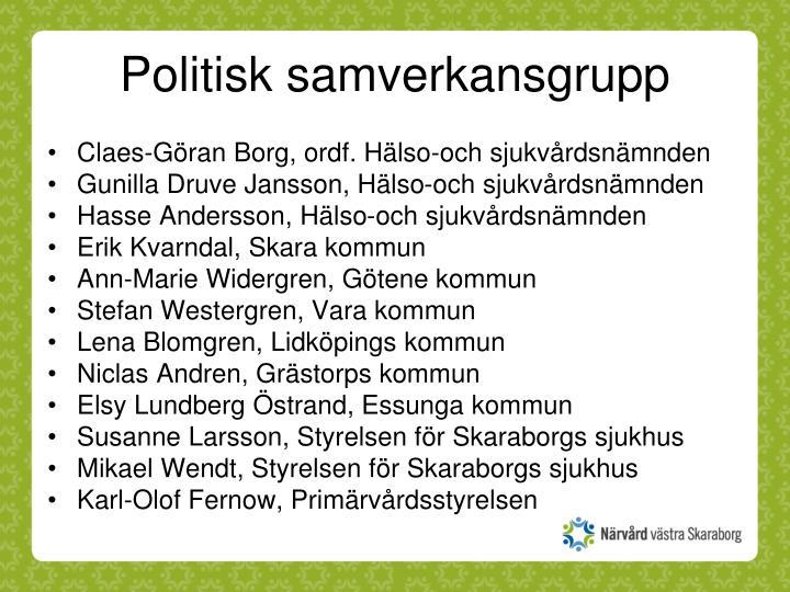 Politisk samverkansgrupp