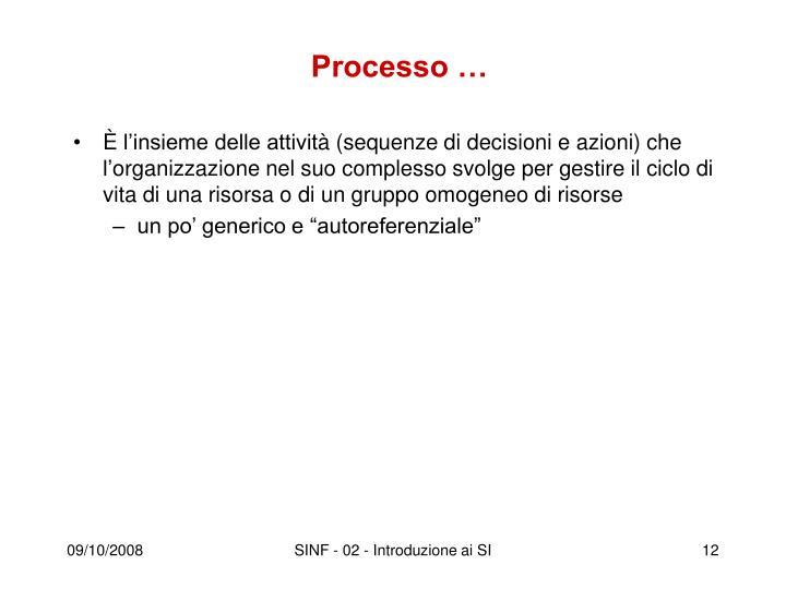 Processo …