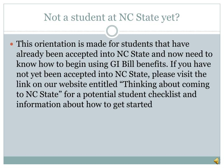 Not a student at NC State yet?