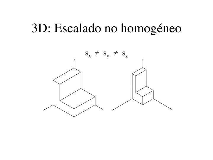 3D: Escalado no homogéneo