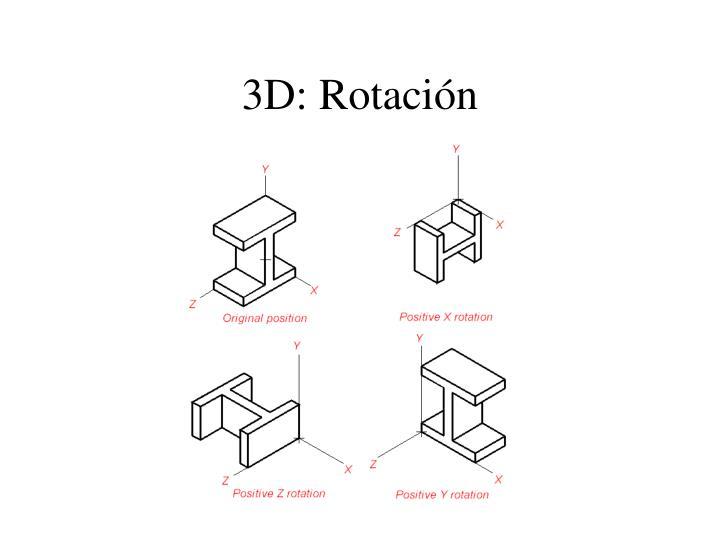 3D: Rotación