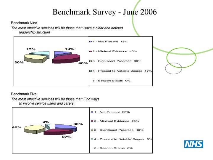 Benchmark Survey - June 2006