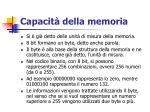 capacit della memoria