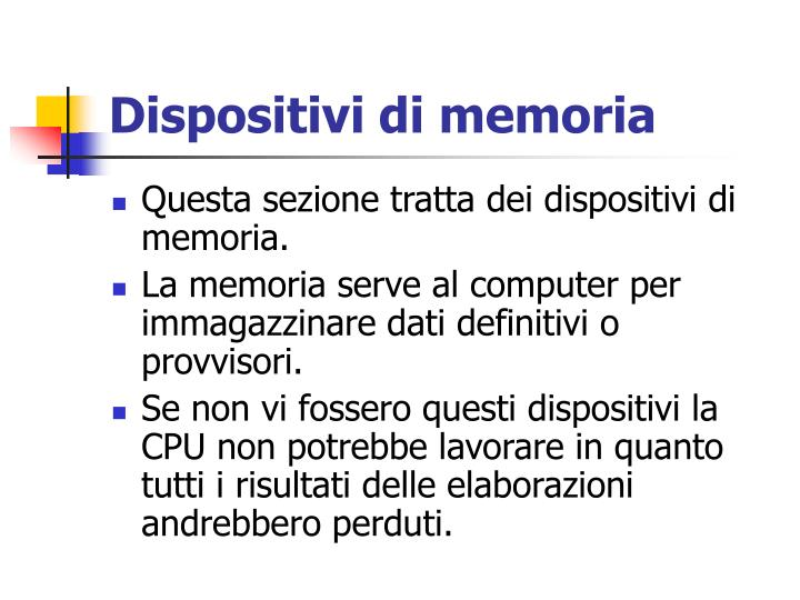 Dispositivi di memoria