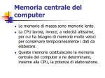 memoria centrale del computer