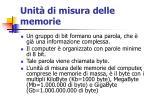 unit di misura delle memorie