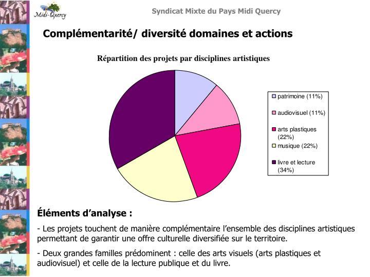 Complémentarité/ diversité domaines et actions