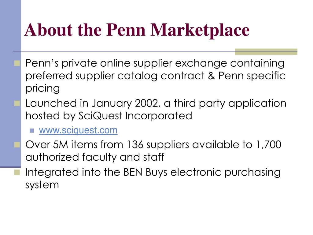About the Penn Marketplace