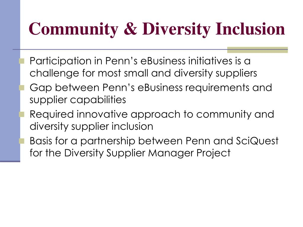 Community & Diversity Inclusion