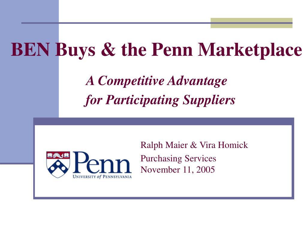 BEN Buys & the Penn Marketplace