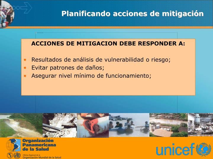 Planificando acciones de mitigación