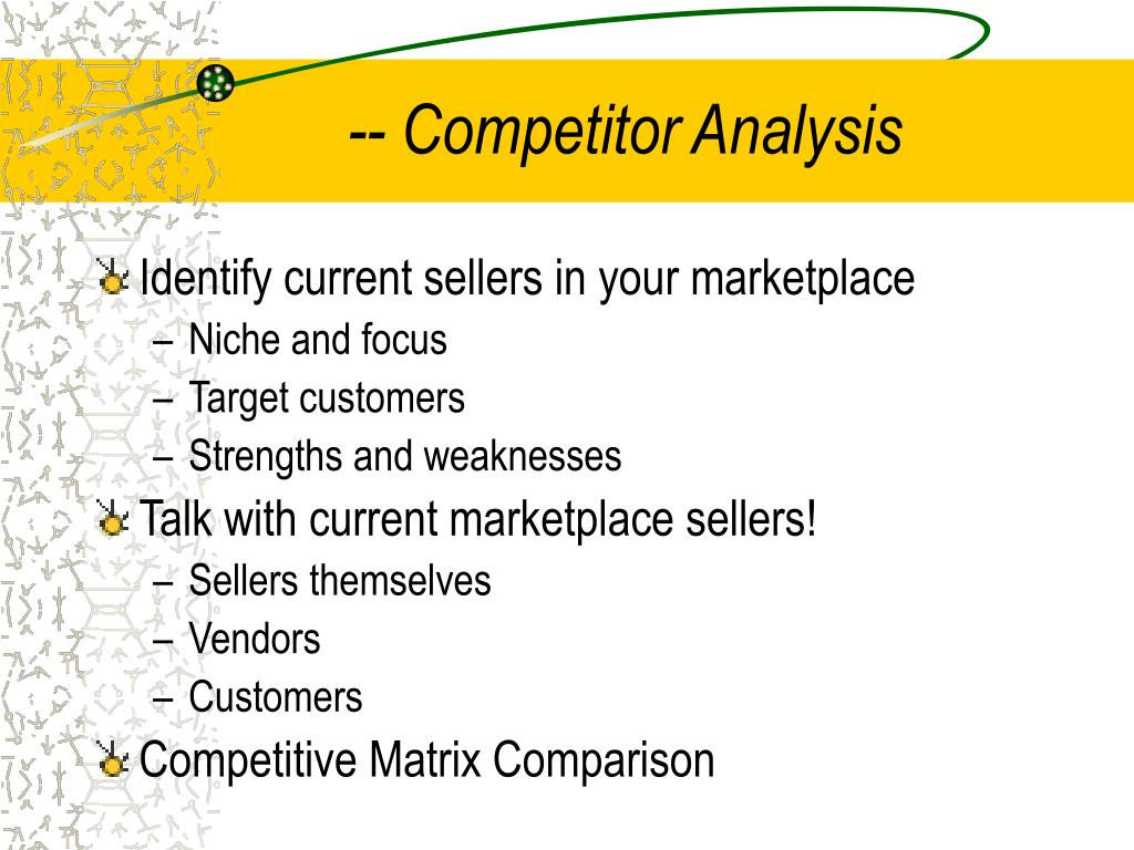 -- Competitor Analysis
