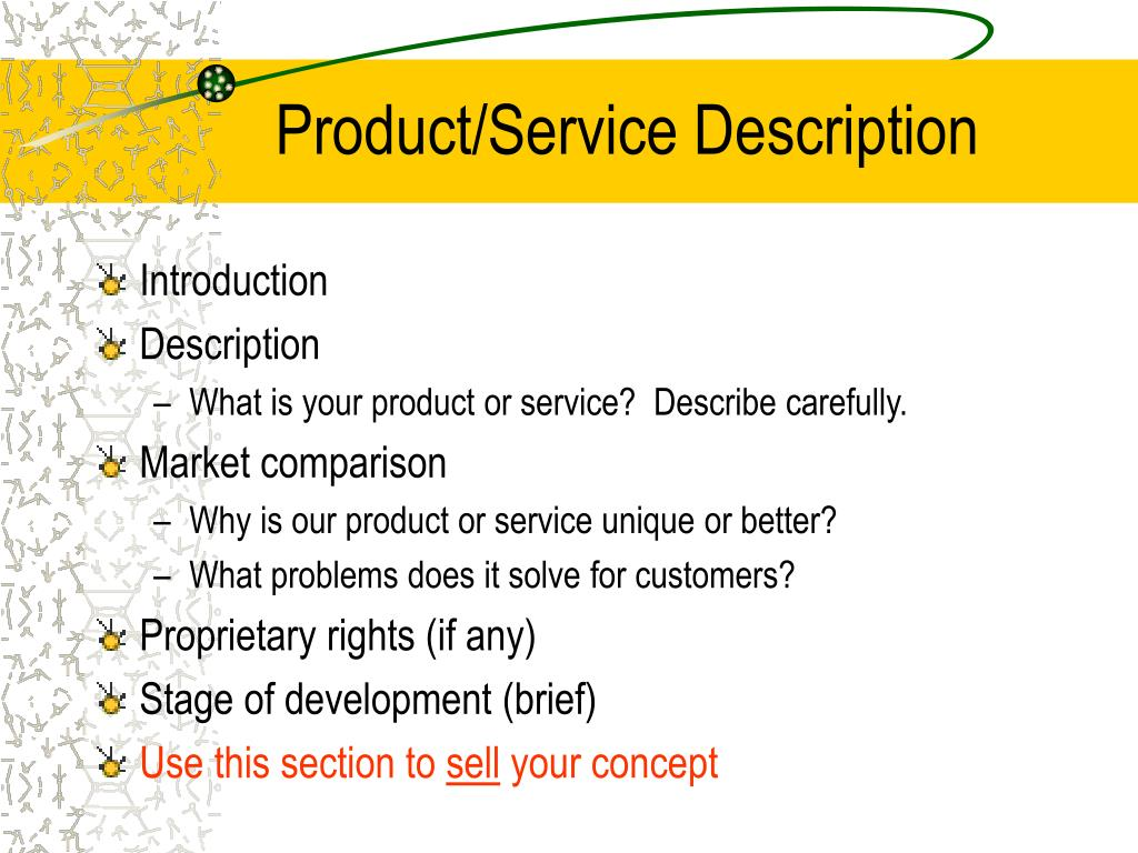 Product/Service Description