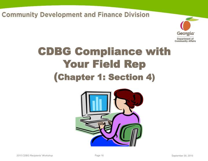 CDBG Compliance with