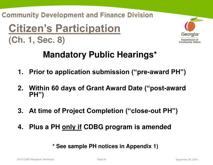 Citizen's Participation