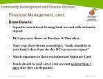 financial management cont