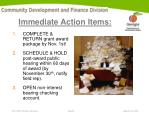 immediate action items