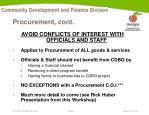 procurement cont