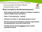 procurement of public works construction cont