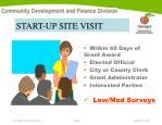 start up site visit