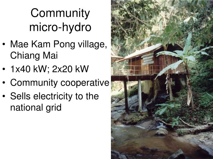 Community micro-hydro
