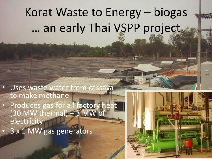 Uses waste water from cassava to make methane