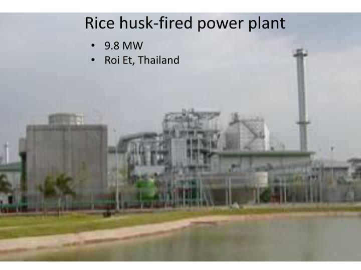 Rice husk-fired power plant