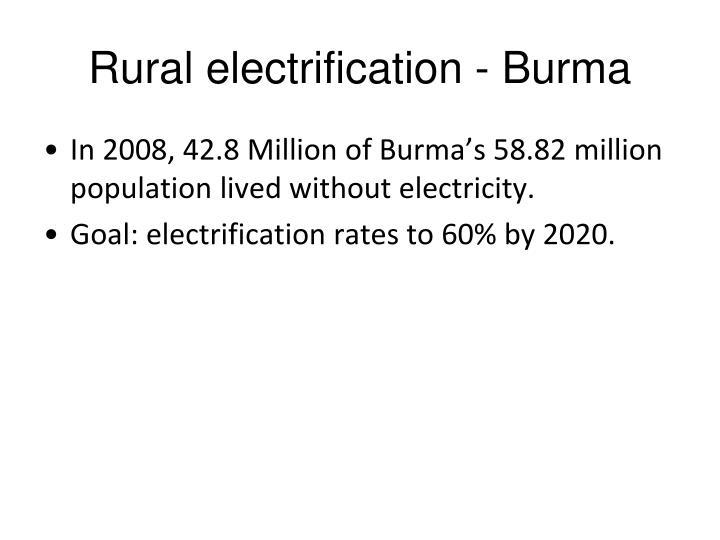Rural electrification - Burma