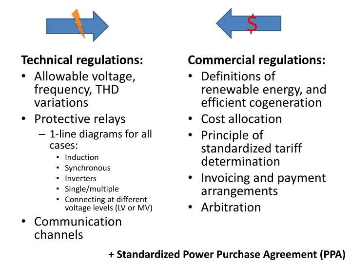 Technical regulations: